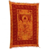 Tenture orange Bouddha Bhaishavaguru