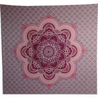 Tenture maxi fleur de lotus rose