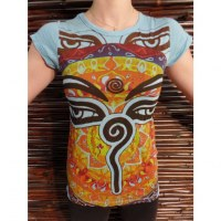 Tee shirt Bouddha eyes bleu