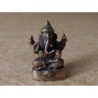 Miniature du dieu Ganesh assis gris