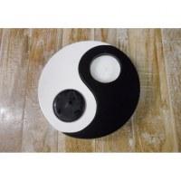 Bougeoir yin yang noir et blanc
