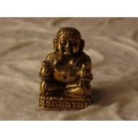 Miniature dorée de Bouddha assis en tailleur