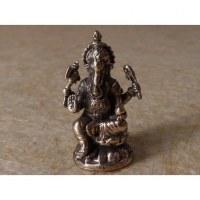 Miniature du dieu Ganesh jambe repliée gris