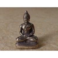 Miniature grise Bouddha méditatif