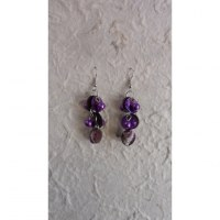Pendants d'oreilles Achara violet