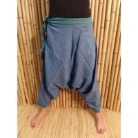 Pantalon/sarouel bleu Ghaghara