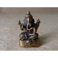 Miniature du dieu Ganesh assis doré
