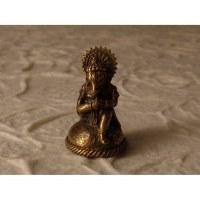 Ganesh doré assis