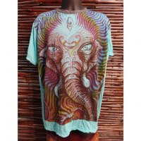 Tee shirt bleu beautiful Ganesh