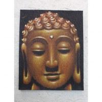 Tableau noir/jaune Bouddha