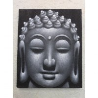 Tableau noir/gris Bouddha