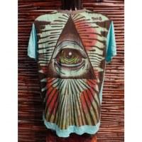 Tee shirt turquoise oeil de la providence