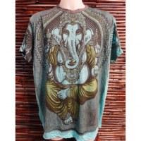 Tee shirt bleu turquoise Majesté Ganesh