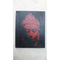 Tableau Bouddha le bienveillant rouge