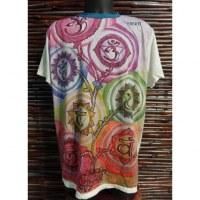 Tee shirt turquoise 7 chakras color