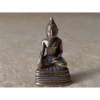 Figurine grise Bouddha en méditation