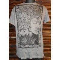 Tee shirt marron Bouddha arbre