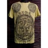 T shirt jaune vif Aum