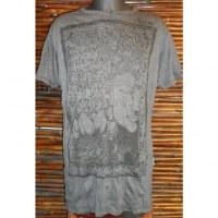 Tee shirt gris anthracite Bouddha arbre