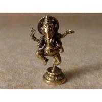 Petit Ganesh debout dansant doré