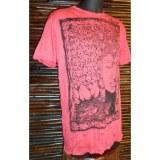Tee shirt rouge Bouddha arbre