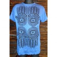 Tee shirt 4 khamsa bleu foncé