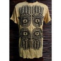Tee shirt 4 khamsa jaune