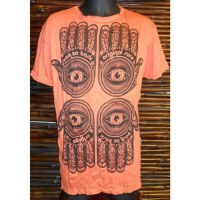 Tee shirt 4 khamsa orange