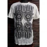 Tee shirt 4 khamsa blanc