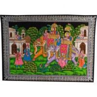 Petite tenture le retour de Rama et Sita