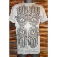 Tee shirt 4 khamsa gris acier