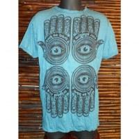 Tee shirt 4 khamsa bleu pétrole