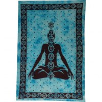 Tenture bleue 7 chakras