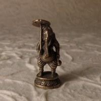 Ganesh et son ombrelle gris argent