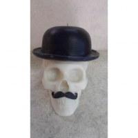 Bougie skull Monsieur