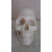 Bougie skull blanche