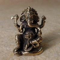Petit Ganesh assis doré