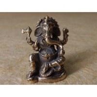 Petit Ganesh assis argenté
