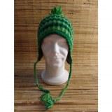 Chullo bicolore vert