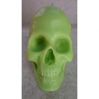 Bougie skull vert
