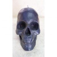 Bougie skull noire