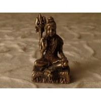 Miniature Shiva gris paume ouverte