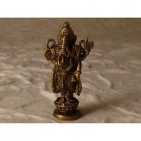 Miniature dorée Ganesh debout