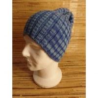 Bonnet bicolore bleu