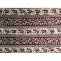 Petite tenture marron éléphants losange
