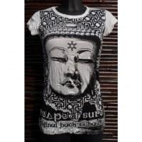 Tee shirt lady blanc Bouddha Angkor
