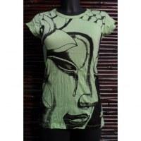 Tee shirt lady la larme de Bouddha vert pistache