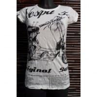 Tee shirt Vespa 55 blanc