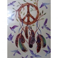 Tatouage peace en love attrape rêves