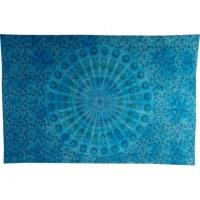Tenture color éventail floral bleu